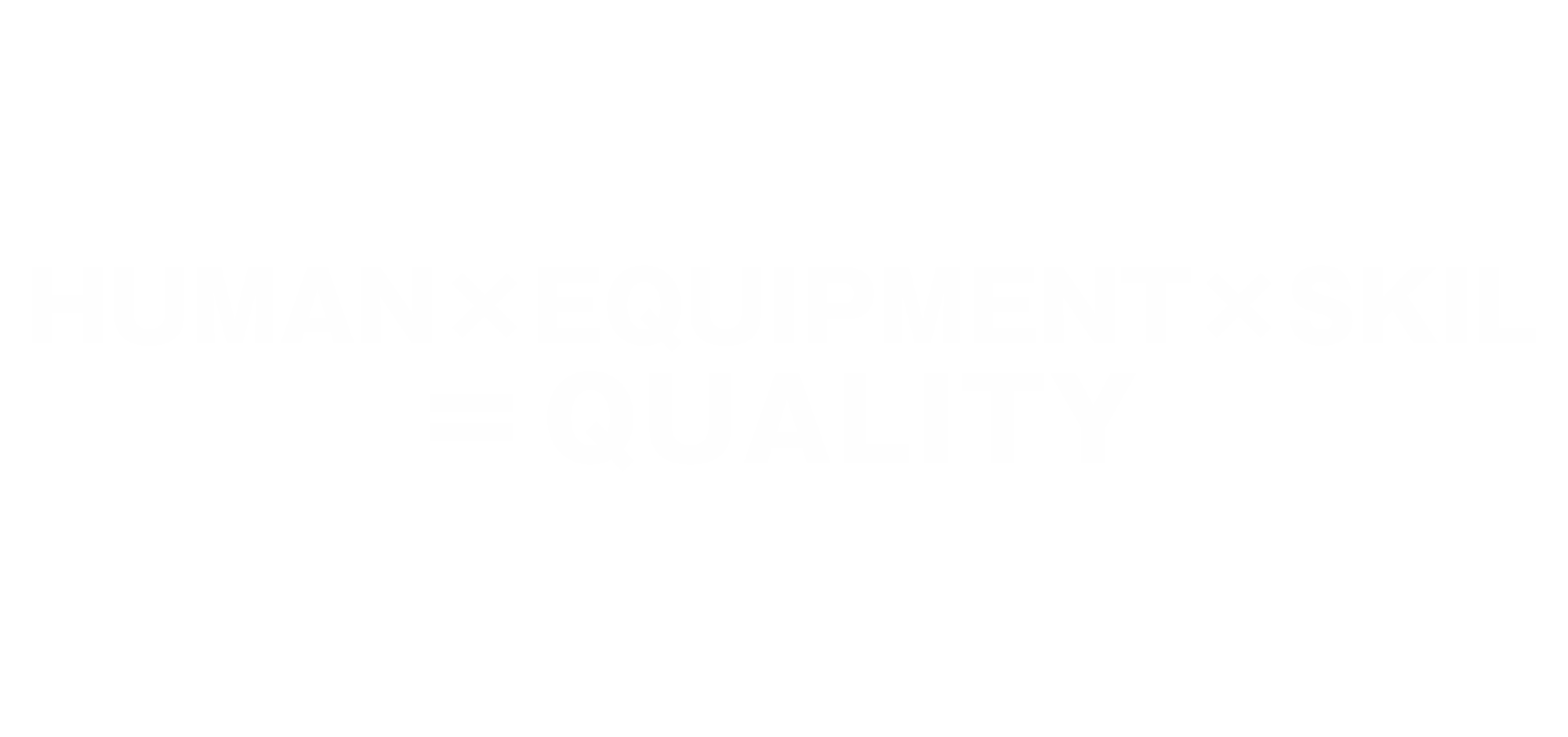 HUMAN×EQUIPMENT×SKIL =QUALITY ヒト、モノ、スキルを繋げる Creative Commons